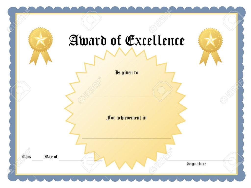 certificate templates  achievement award wording example