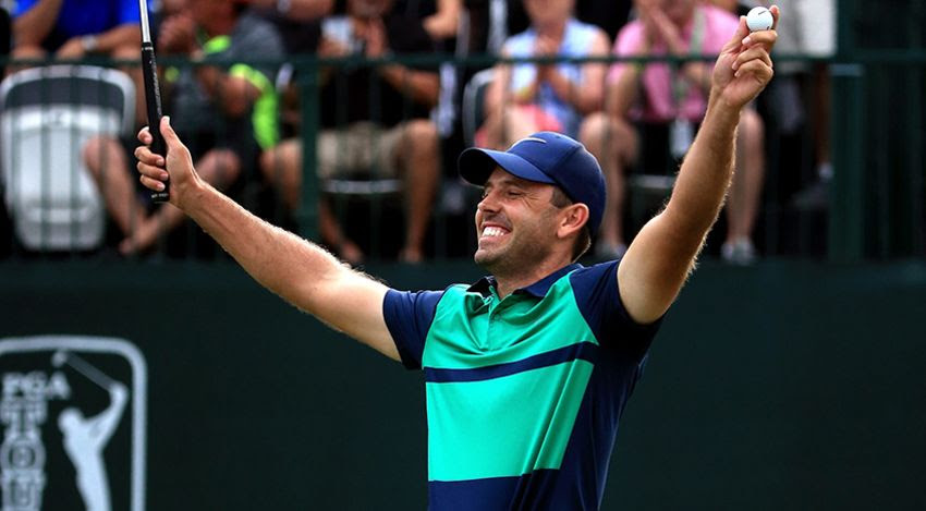Charl Schwartzel celebrates his victory