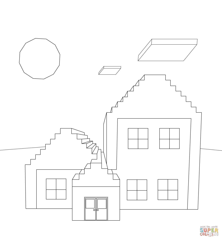Klick das Bild Minecraft Hause