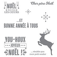 Sourire De Fin D'Année Clear-Mount Stamp Set (French)