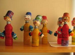 brinquedos reciclados garrafa pet criancas artes escola artesanato painel criativo 1
