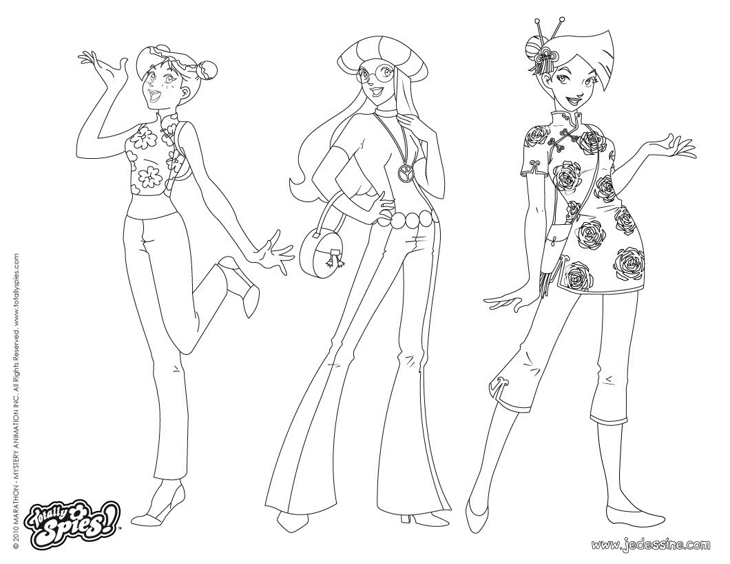 Coloriages Totally Spies Frhellokidscom