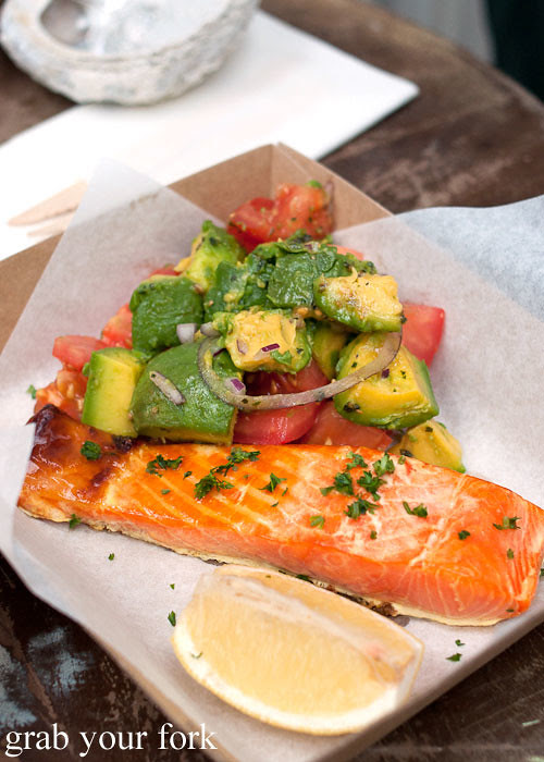 Hot smoked salmon at Fish Place Surry Hills