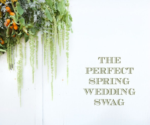 Springtime Wedding Swag Tutorial
