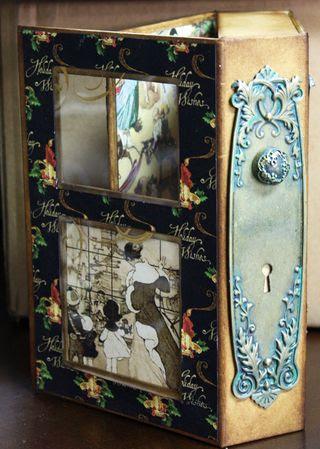 CHA-S Altered Art Box Christmas 3