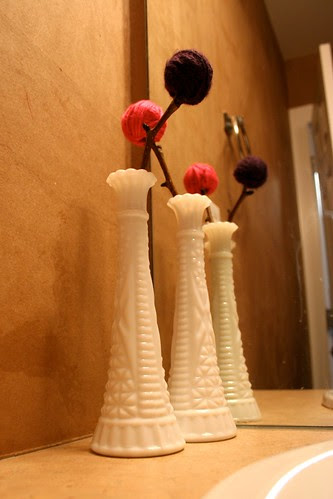 Woodland Yarn Flower Arrangement