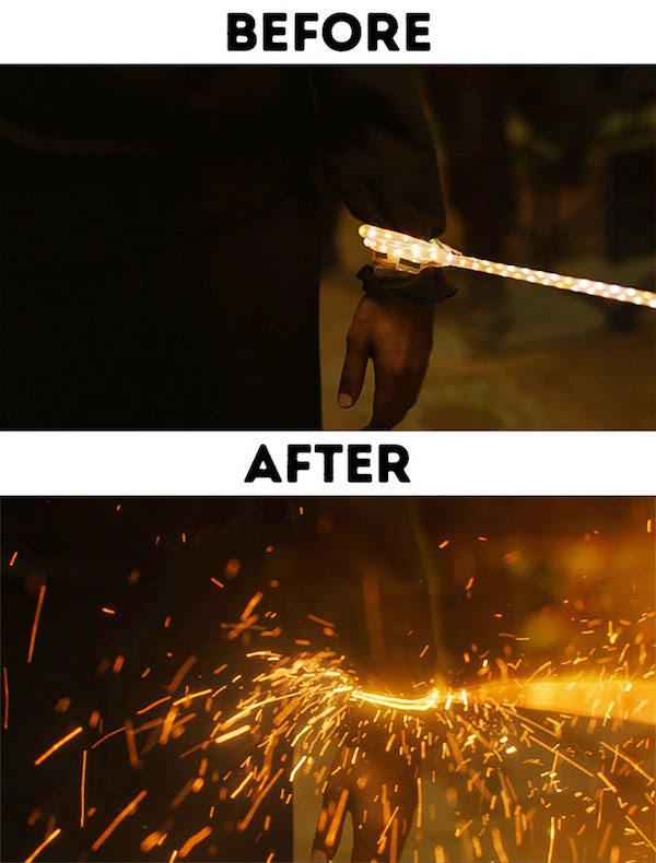 3 - 30 before and after special effects scenes