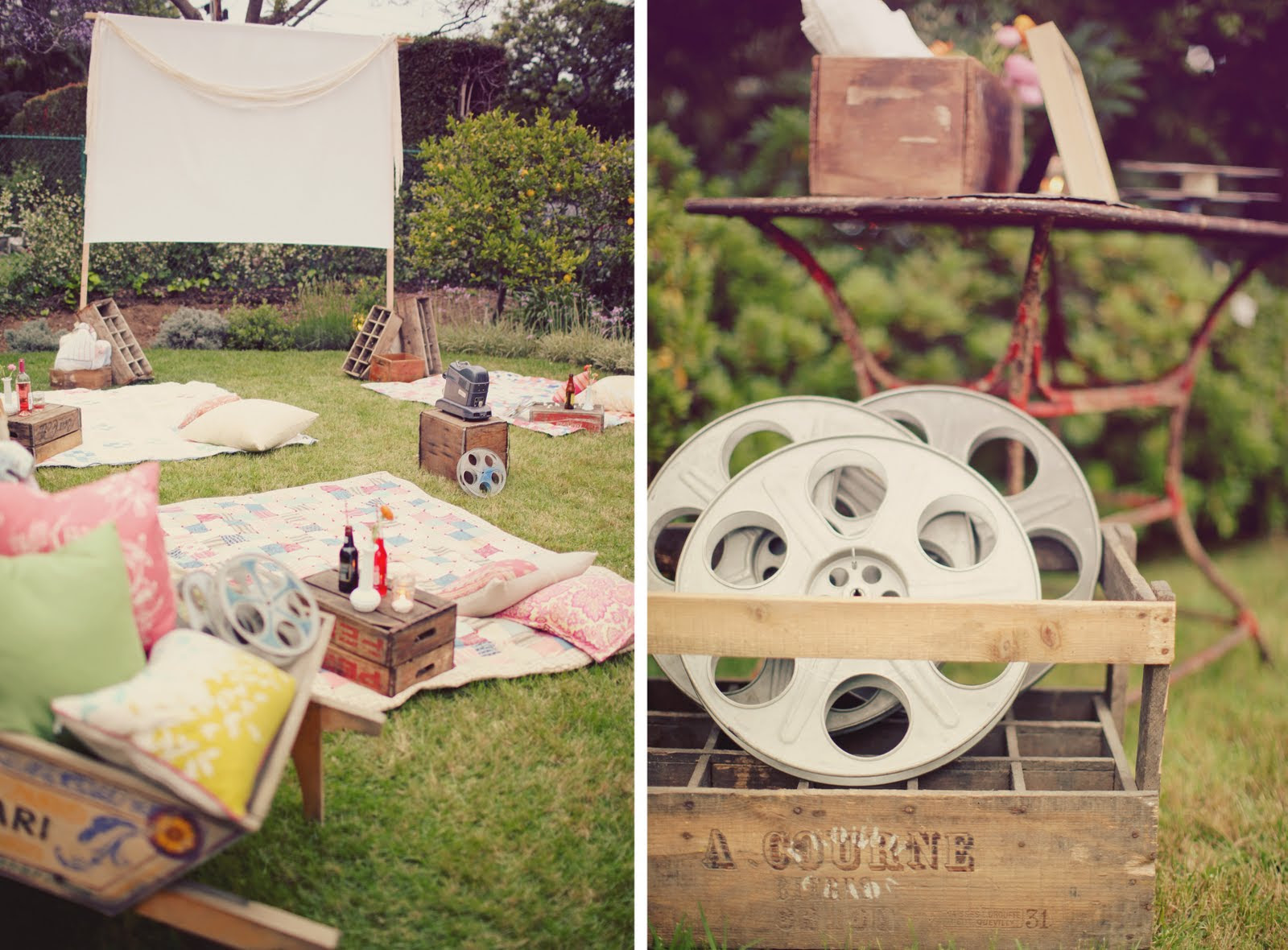 Entertaining Hollywood Style, A Backyard Movie Screening Night ...