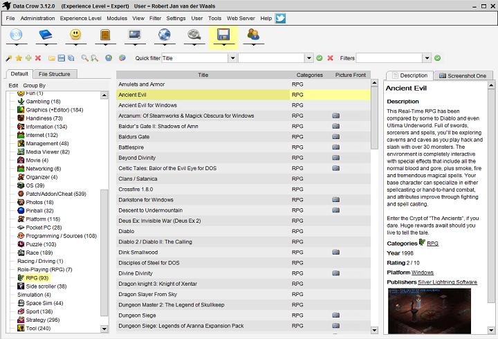 برنامج مجانى مميز لتنظيم وإدارة جميع اشكال الوسائط المتعددة على جهازك Data Crow 3.9.22