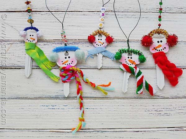 Embellished keys - easy Christmas craft