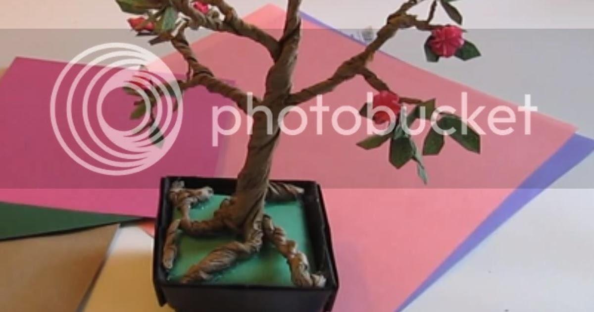 papermau make an origami bonsai tree tutorial with