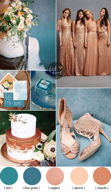 Teal and Copper Wedding Color Ideas   Copper Bridesmaids