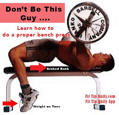 correct bench press technique    physique fit