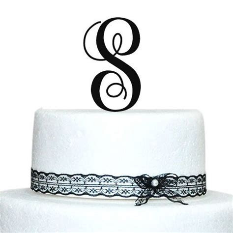Monogram Cake Toppers Unique Wedding Cake Toppers Vintage