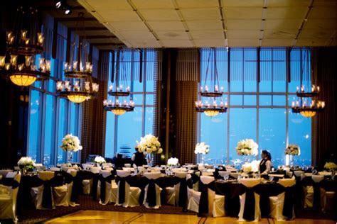 Elegant Ivory and Black Petroleum Club Wedding   Houston