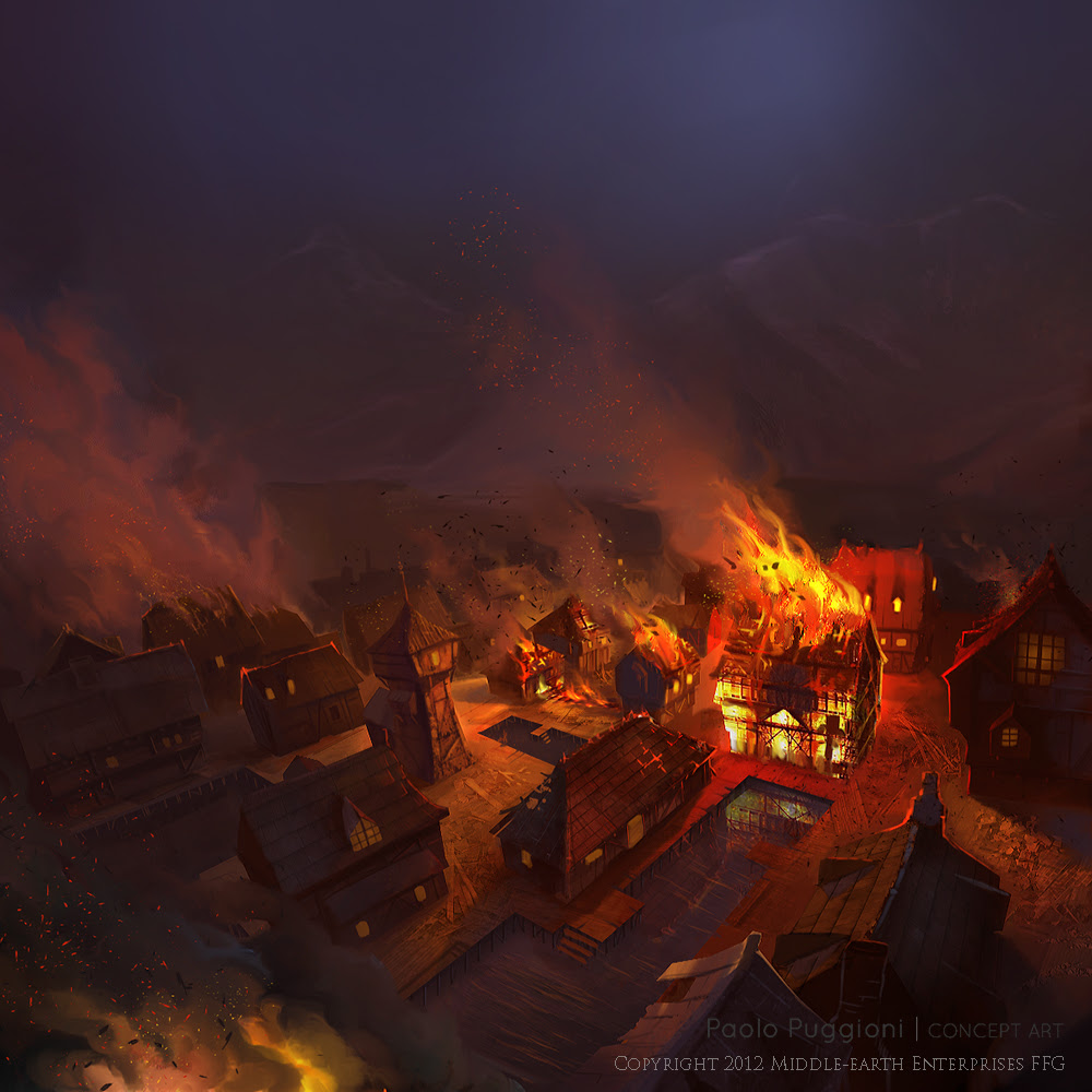 The Hobbit The Burning of LakeTown
