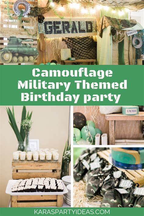 Kara's Party Ideas Camouflage Military Themed Birthday