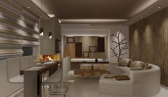 Tree in the living room design by Asia C
