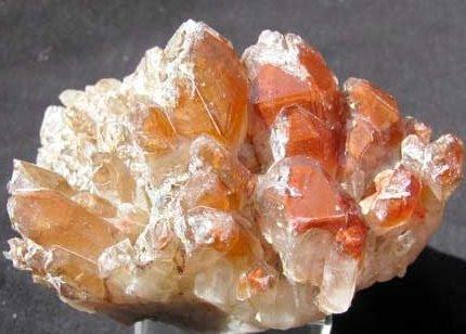 Pictures Of Quartz Crystals. Quartz Crystals - Orange