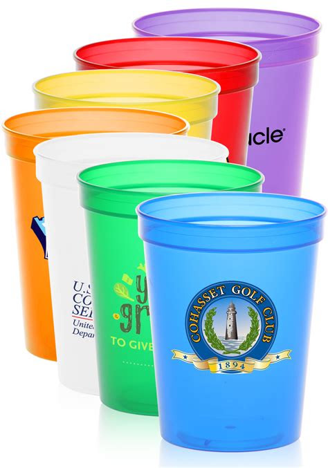 custom  oz plastic stadium cups sctf discountmugs