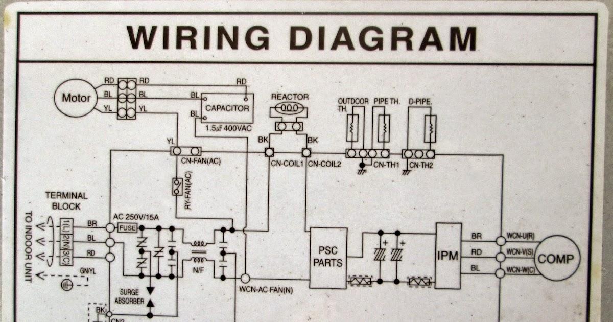 Daikin Split Unit Wiring Diagram