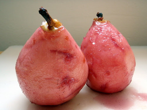 A pair of nake pears take a dip and get sunburnt