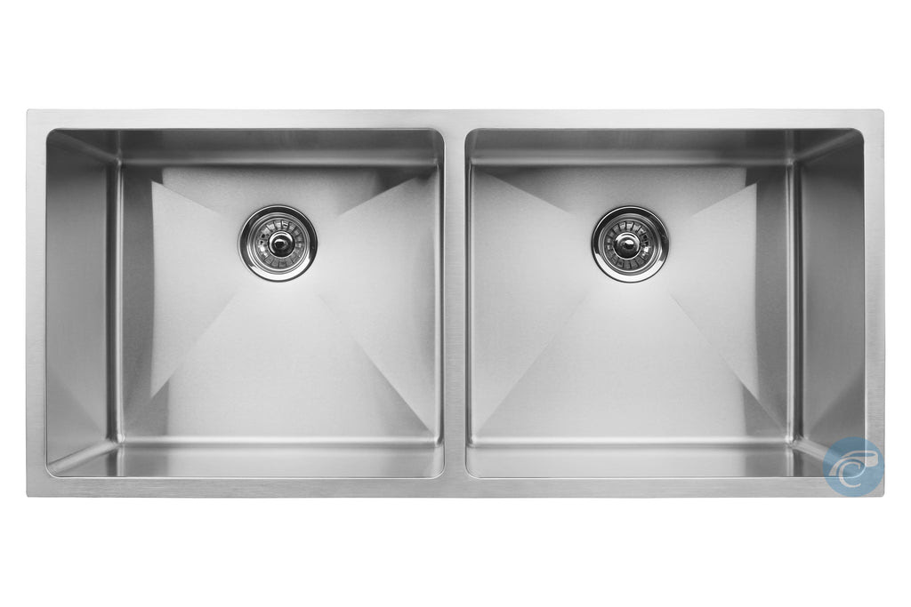 Master Chef Paris Radial 42 Inch Double Bowl Stainless Kitchen Sink