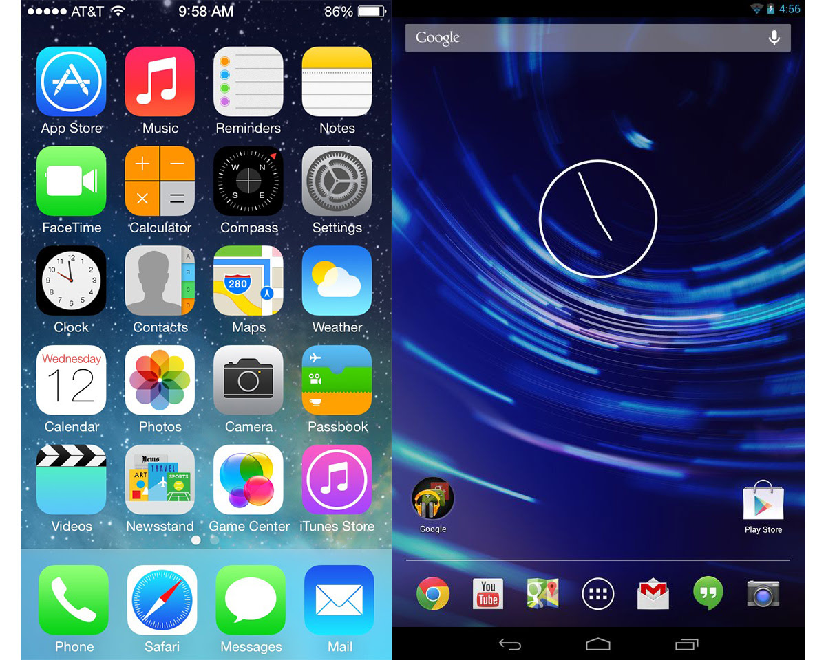 iOS 7 vs. Android 4.3: Apple takes giant leaps while ...