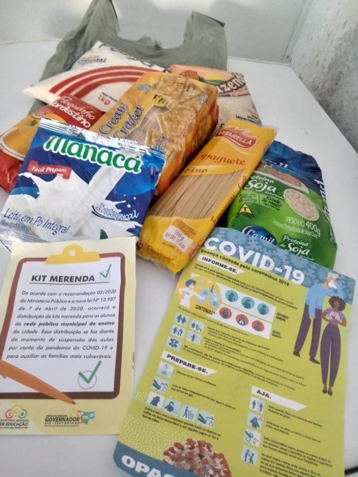 Governador Dix-Sept Rosado/RN:  Após mais de 2 meses de suspensão de aulas, Prefeitura distribui kit com menos de 5 quilos de alimentos