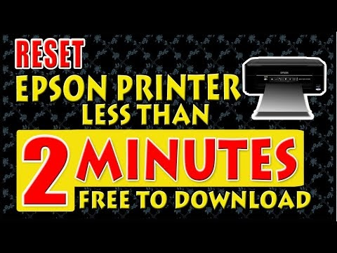 """How to Reset Epson Printer """"Waste Ink Pad"""" (Free Download)"""