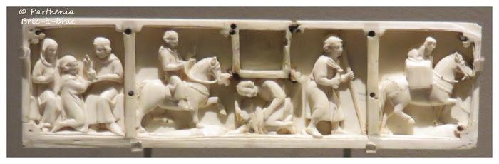 panneau d'un coffret : histoire du fils prodigue