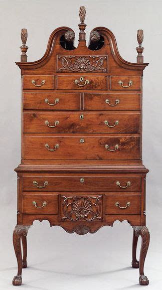 american centennial chippendale carved mahogany highboy