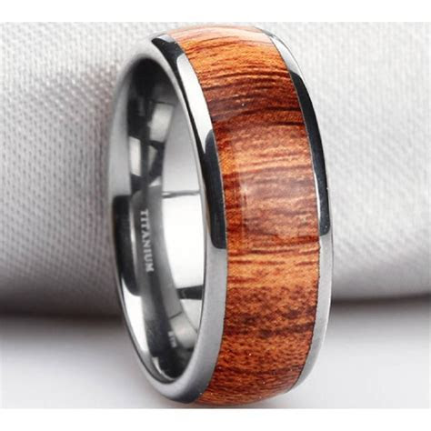 15 Best Ideas of Tungsten Wedding Bands With Wood Inlay