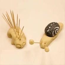 Salt Dough Snail craft for kids