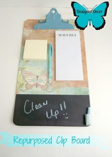 repurposing a clipboard to a message board.