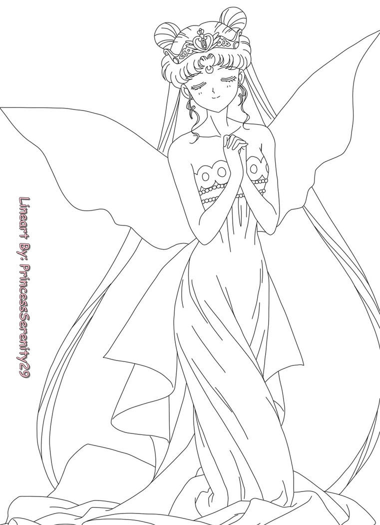gallery Sailor Moon Princess Serenity Coloring Pages