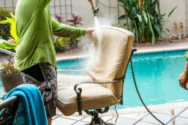 How to Clean Outdoor Patio Cushions - Ginny's Tips