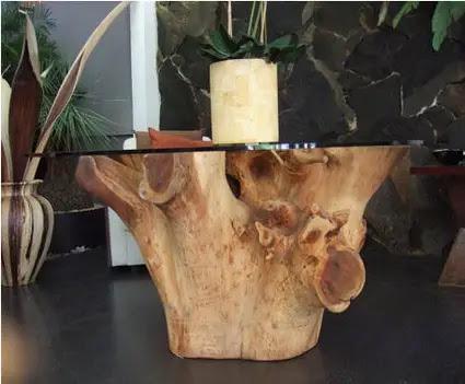 Hogarisimo mesas de cristal y troncos de arboles - Como decorar un arbol seco ...