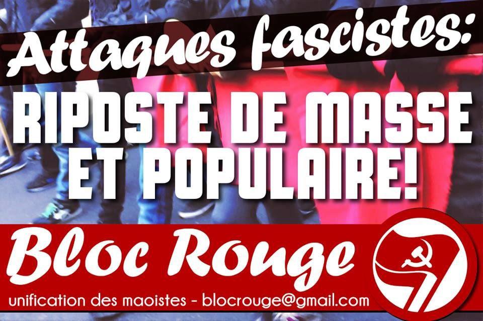 Attaques fascistes : riposte de masse et populaire !