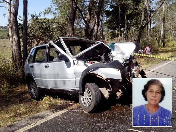 Acidente mata idosa de 74 anos na BR-267, em Campanha (Foto: Corpo de Bombeiros)
