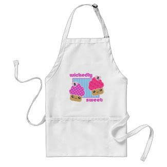 Wickedly Sweet Kawaii Cupcakes Apron apron