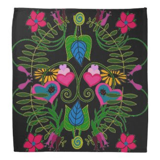 What a Time Botanical Art Bandana