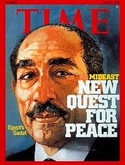 President Sadat on the cover of the time for the second time