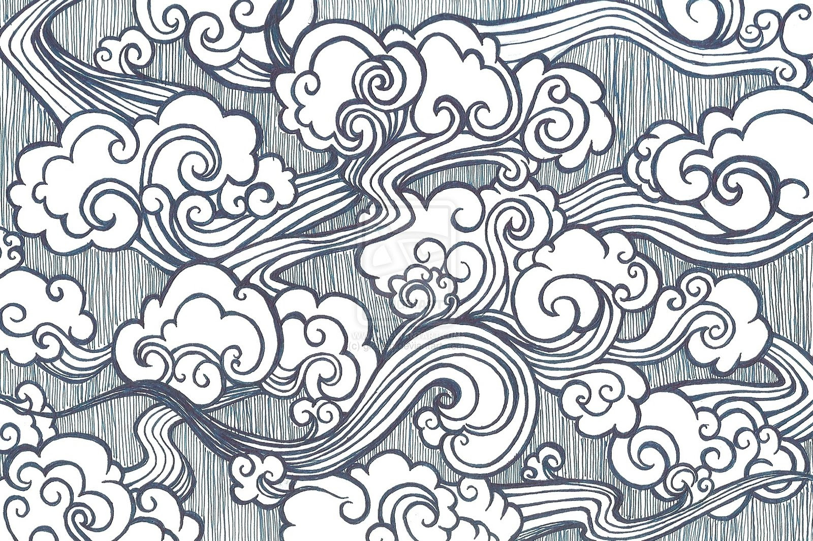 japanese cloud drawing 58