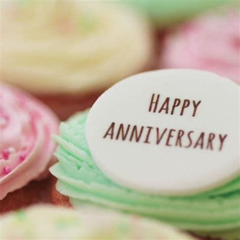 Happy Anniversary   Signature Vanilla   The Little Cupcake