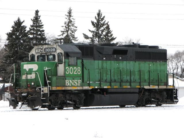 BNSF 3028 in Winnipeg Manitoba