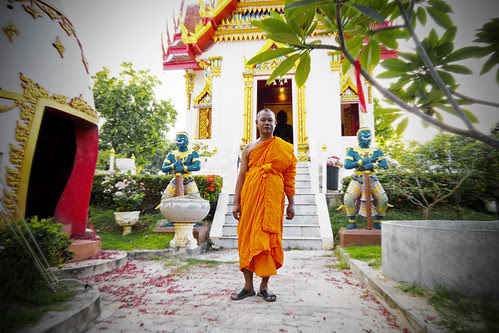 Monk at Karon Temple