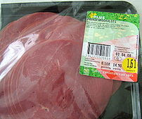 Horse meat in package, bought in a Dutch supermarket