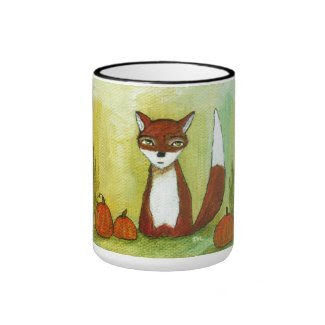 Making Choices Woodland Fox Art Painting Coffee Mug