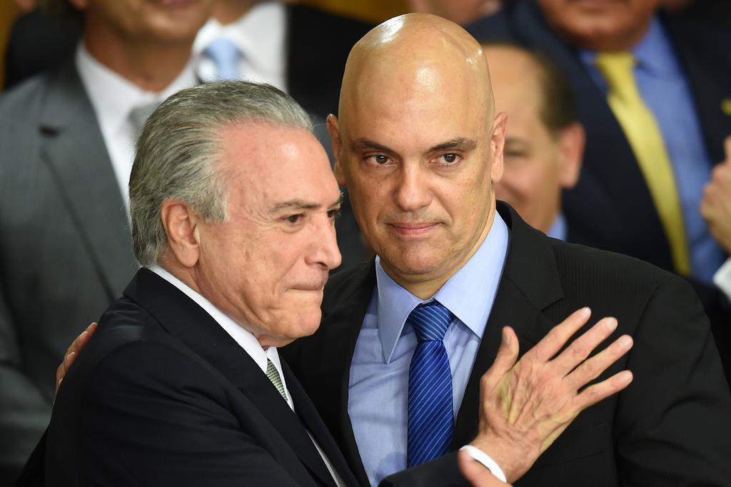 Resultado de imagem para Temer indica Alexandre de Moraes para vaga no STF